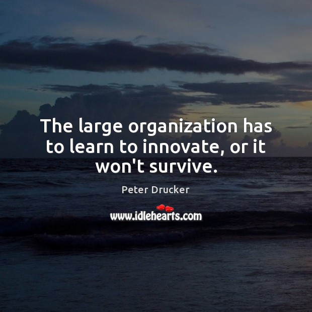 The large organization has to learn to innovate, or it won't survive. Image