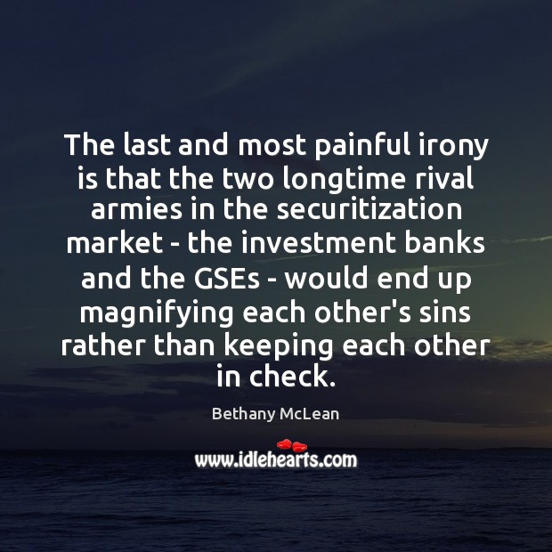 Image, The last and most painful irony is that the two longtime rival