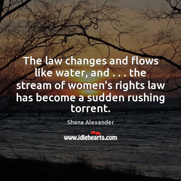 Image, The law changes and flows like water, and . . . the stream of women's