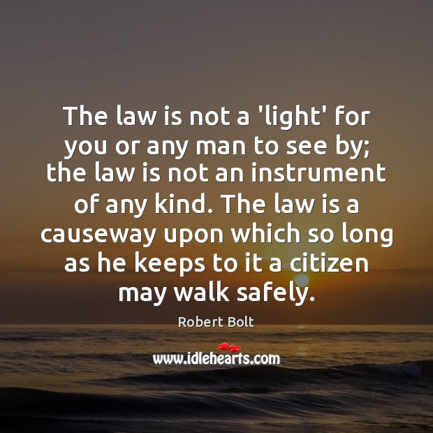 Image, The law is not a 'light' for you or any man to