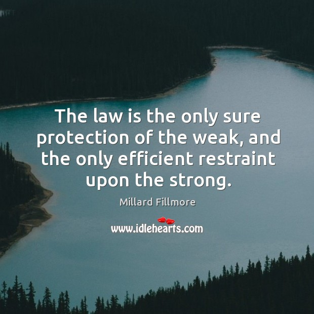 The law is the only sure protection of the weak, and the Image