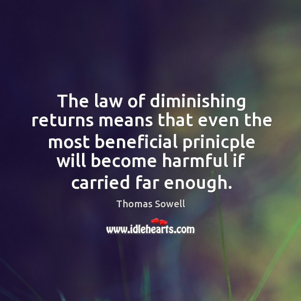 Image, The law of diminishing returns means that even the most beneficial prinicple