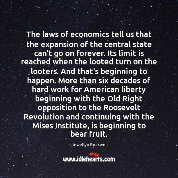 Image, The laws of economics tell us that the expansion of the central