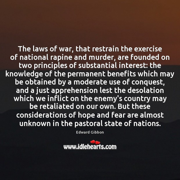 Image, The laws of war, that restrain the exercise of national rapine and
