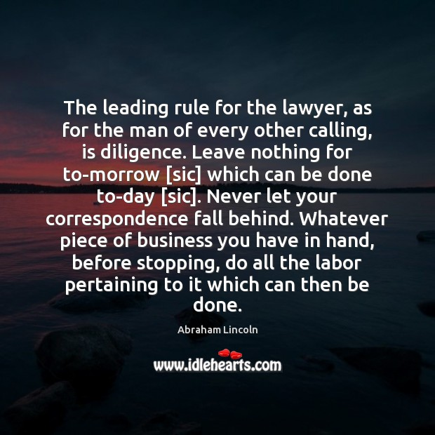 Image, The leading rule for the lawyer, as for the man of every