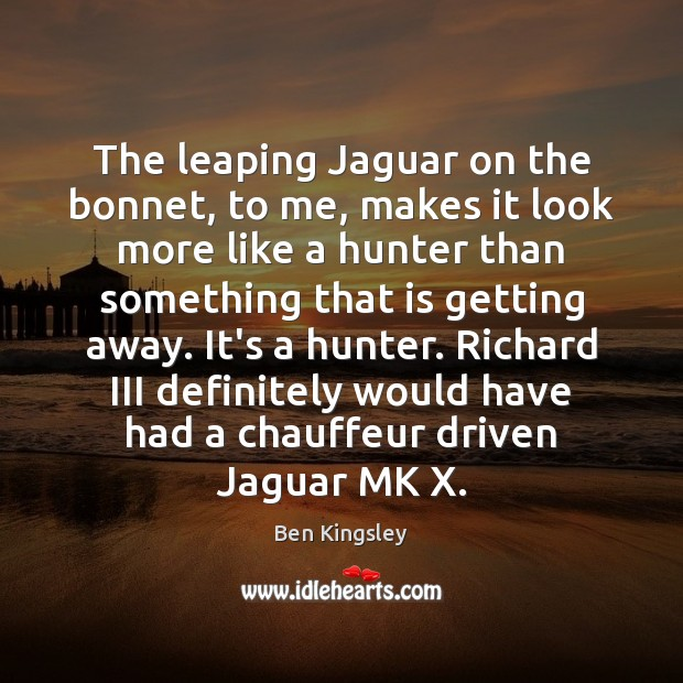 Image, The leaping Jaguar on the bonnet, to me, makes it look more