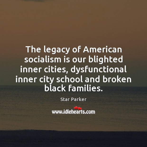 The legacy of American socialism is our blighted inner cities, dysfunctional inner Image