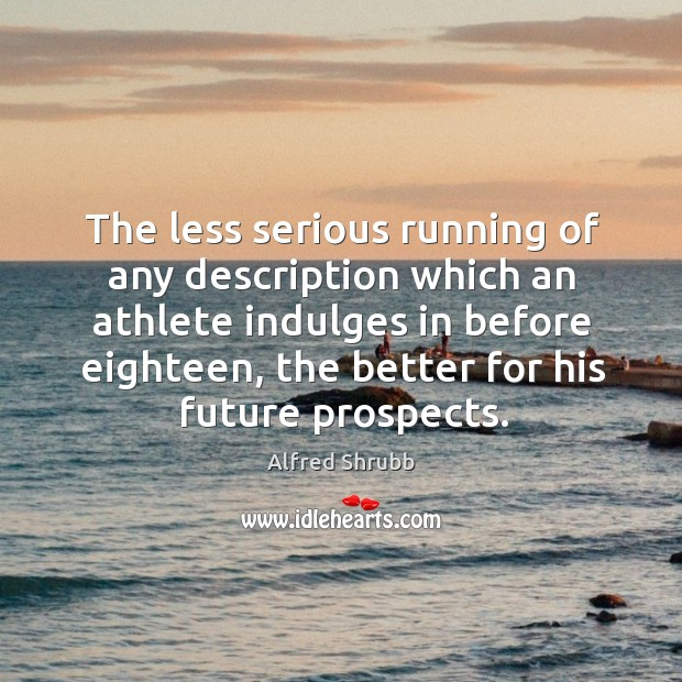Image, The less serious running of any description which an athlete indulges in