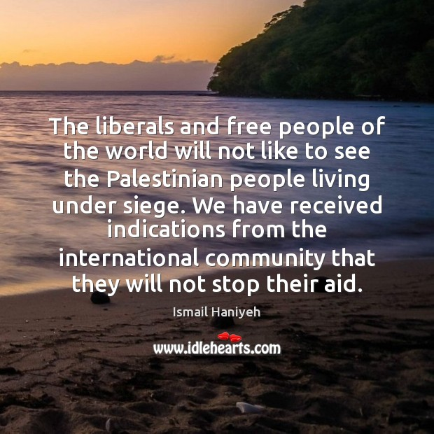 The liberals and free people of the world will not like to Image