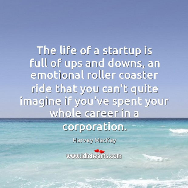 The life of a startup is full of ups and downs, an Image