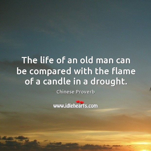 Image, The life of an old man can be compared with the flame