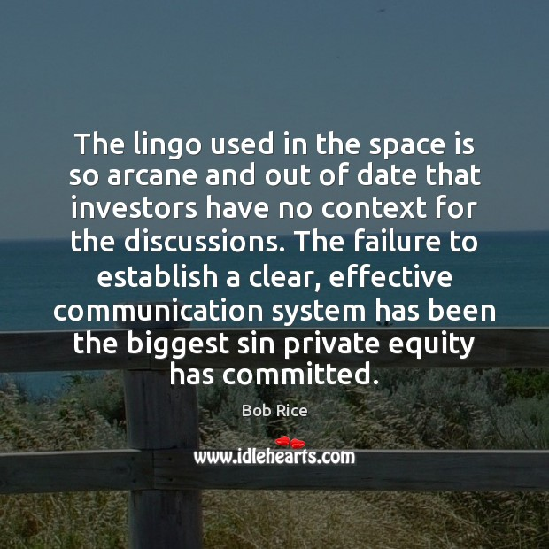 Image, The lingo used in the space is so arcane and out of