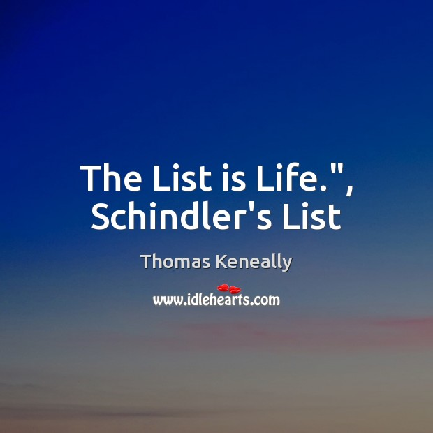 an analysis of the schindlers list by thomas keneally Find all available study guides and summaries for schindler's ark by thomas keneally if there is a sparknotes, shmoop, or cliff notes guide, we will have it listed here.