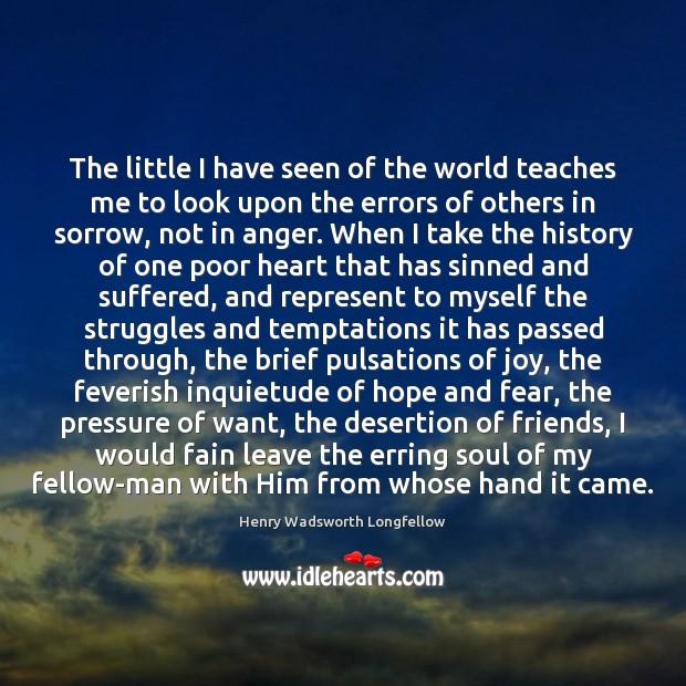 Image, The little I have seen of the world teaches me to look