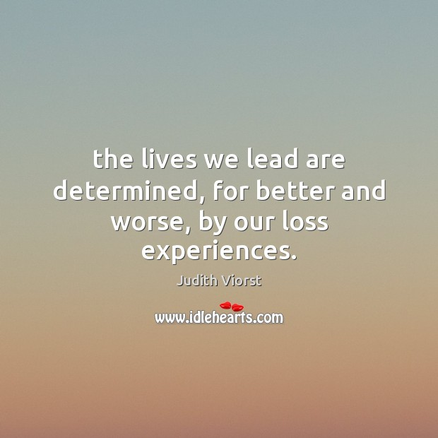 Image, The lives we lead are determined, for better and worse, by our loss experiences.