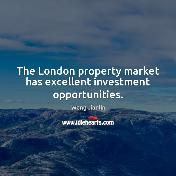 The London property market has excellent investment opportunities. Image