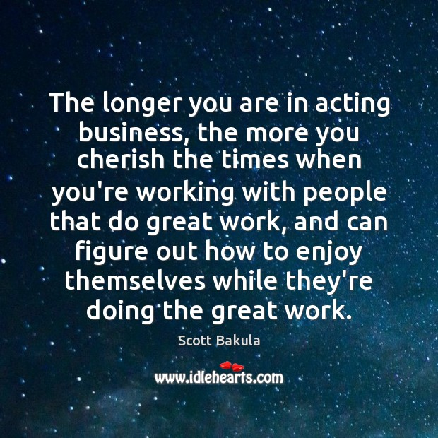 The longer you are in acting business, the more you cherish the Image