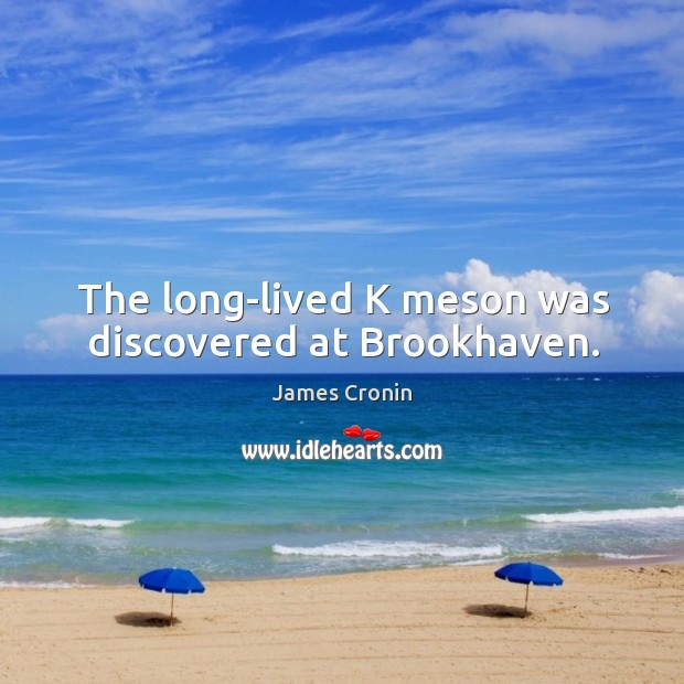 The long-lived k meson was discovered at brookhaven. Image