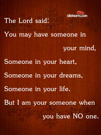 The Lord Said: You May Have Someone In Your…