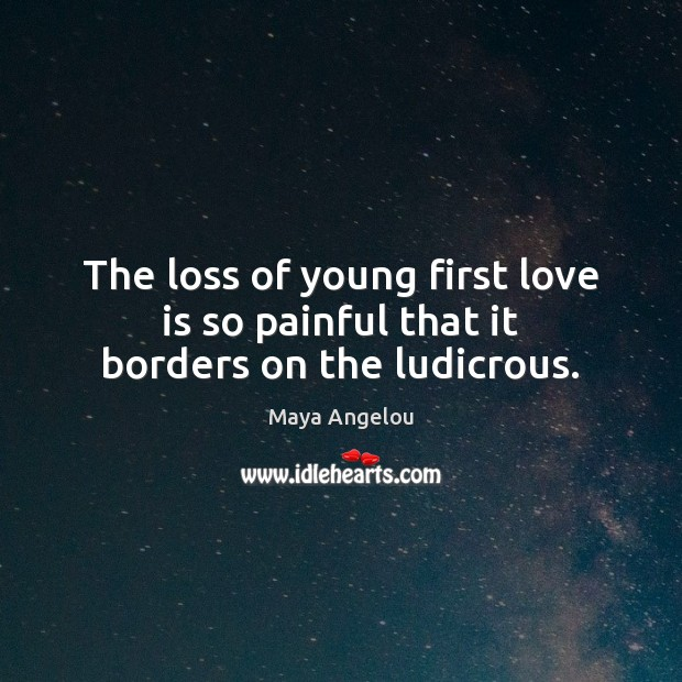 The loss of young first love is so painful that it borders on the ludicrous. Image