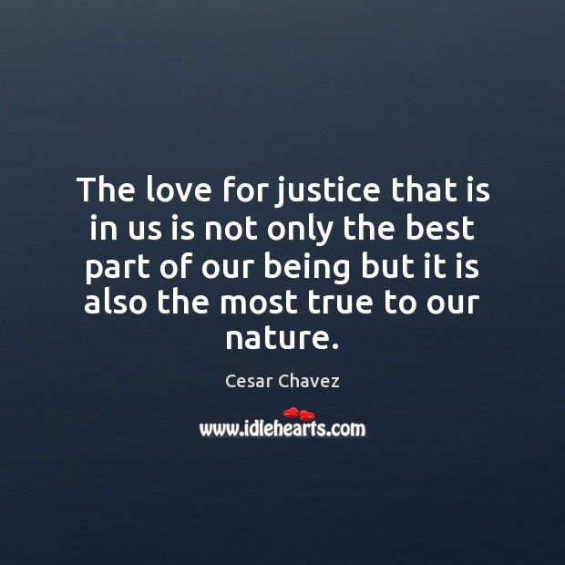 The love for justice that is in us is not only the Image