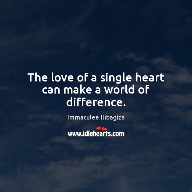 The love of a single heart can make a world of difference. Image