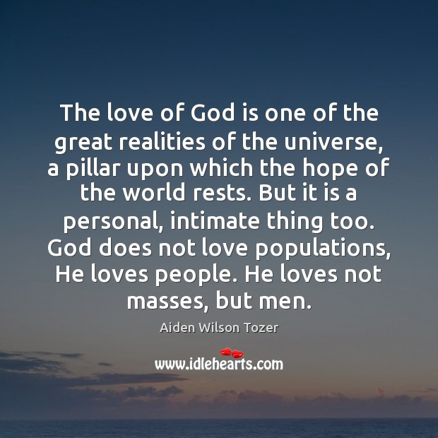 The love of God is one of the great realities of the Image
