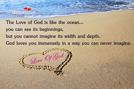 Love Of God Is Like The Ocean