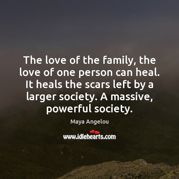 Image, The love of the family, the love of one person can heal.