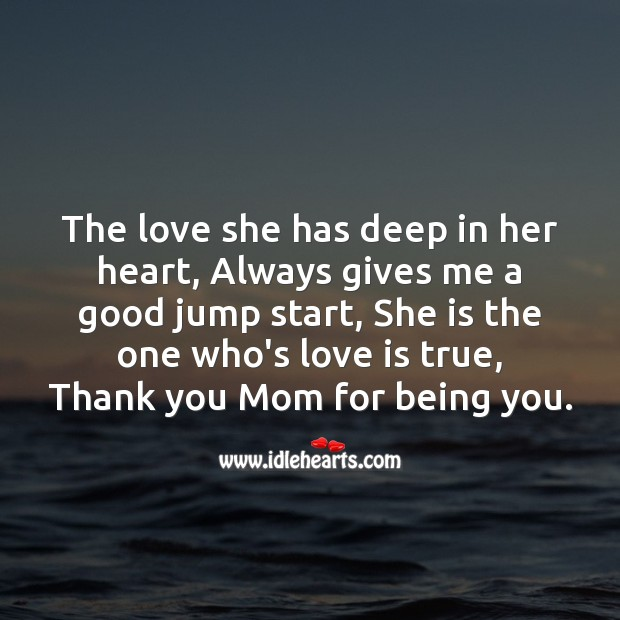The love she has deep in her heart Mother's Day Messages Image