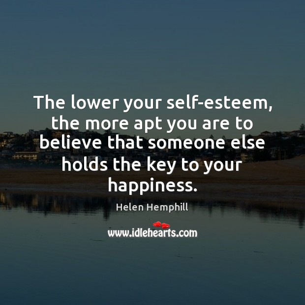 The lower your self-esteem, the more apt you are to believe that Image