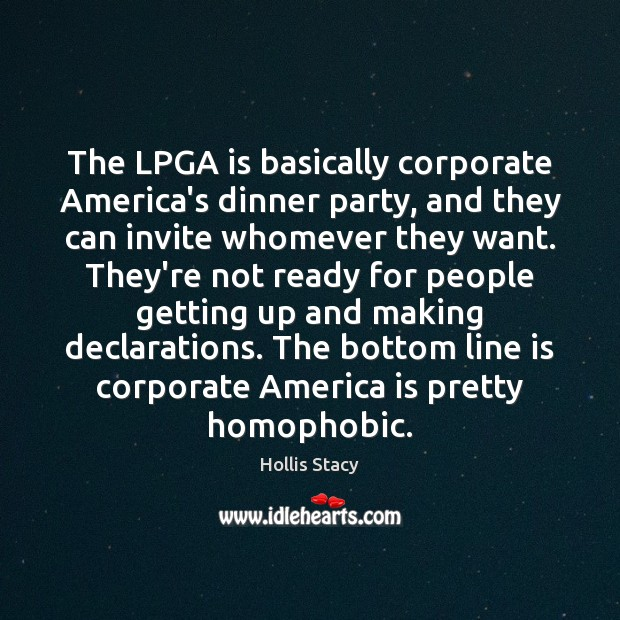 Image, The LPGA is basically corporate America's dinner party, and they can invite