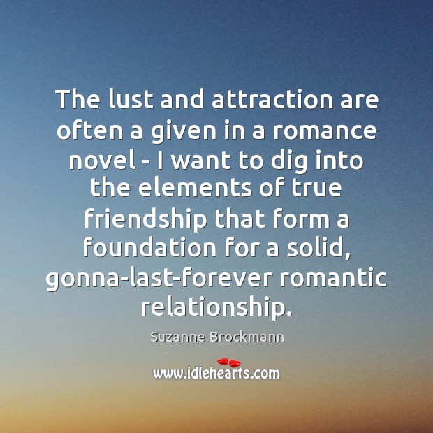 Image, The lust and attraction are often a given in a romance novel