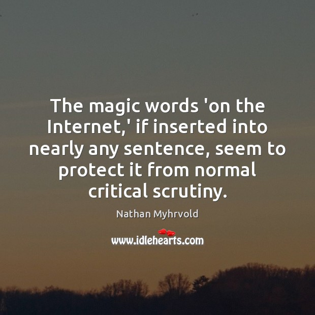 The magic words 'on the Internet,' if inserted into nearly any Image