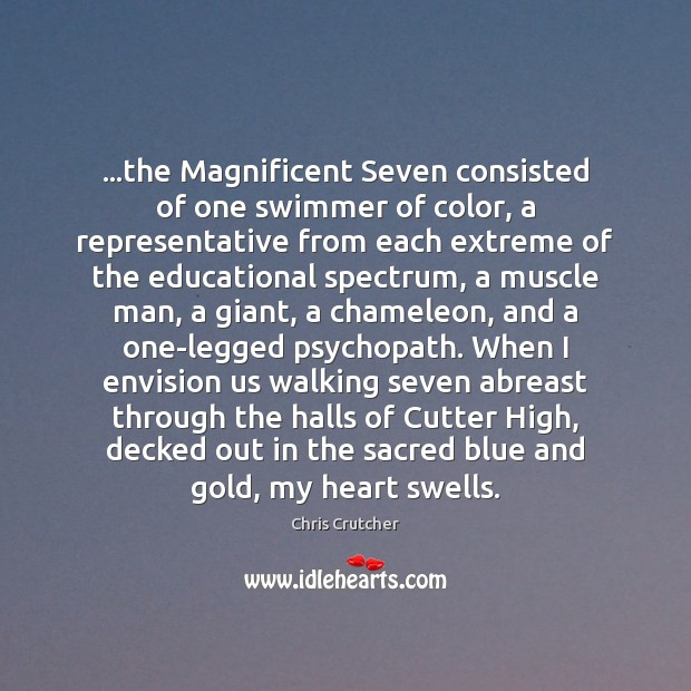 Image, …the Magnificent Seven consisted of one swimmer of color, a representative from