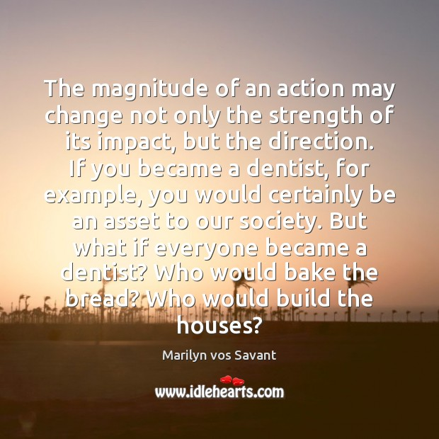 Image, The magnitude of an action may change not only the strength of