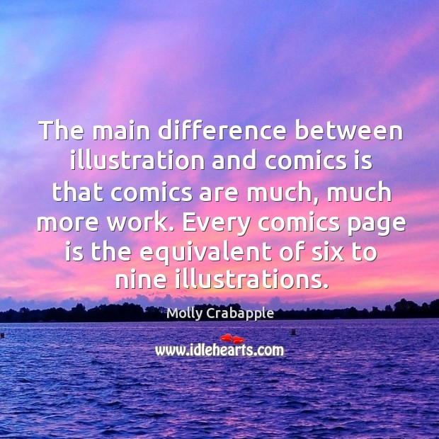 The main difference between illustration and comics is that comics are much, Image