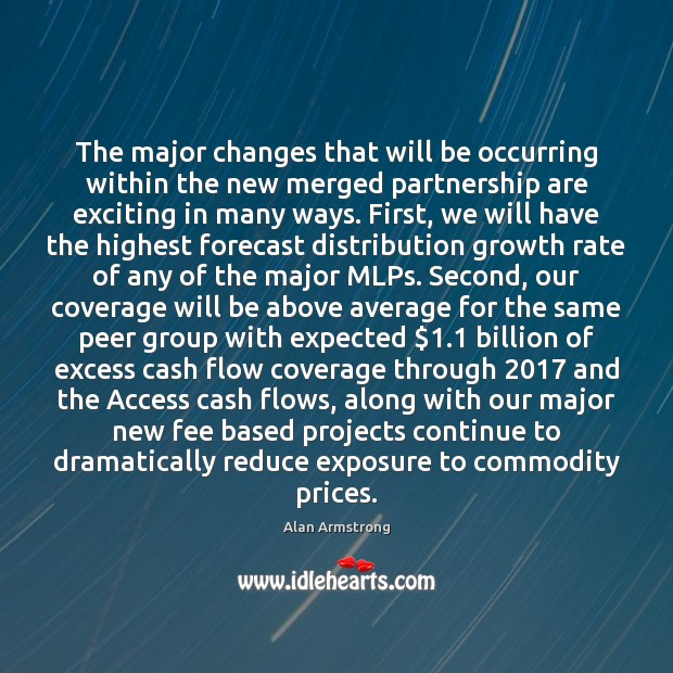 The major changes that will be occurring within the new merged partnership Image