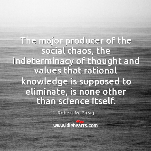 Image, The major producer of the social chaos, the indeterminacy of thought and