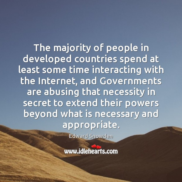 Image, The majority of people in developed countries spend at least some time
