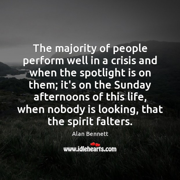 Image, The majority of people perform well in a crisis and when the