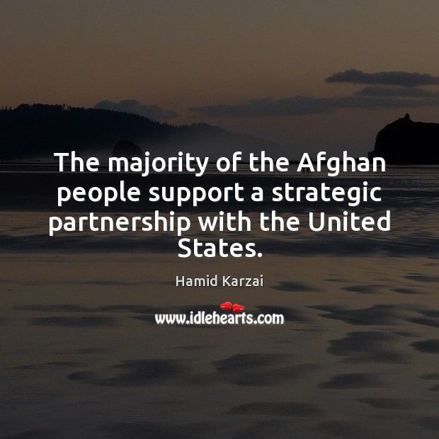 Image, The majority of the Afghan people support a strategic partnership with the United States.