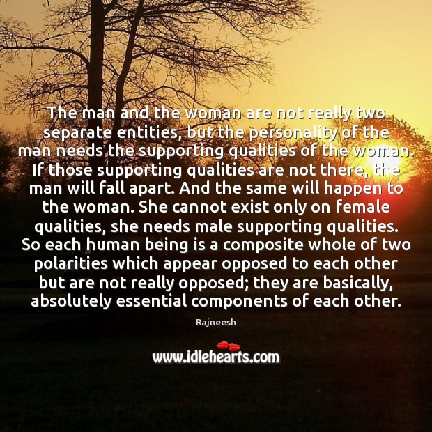 Image, The man and the woman are not really two separate entities, but