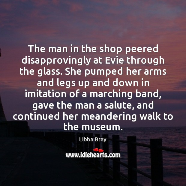 Image, The man in the shop peered disapprovingly at Evie through the glass.