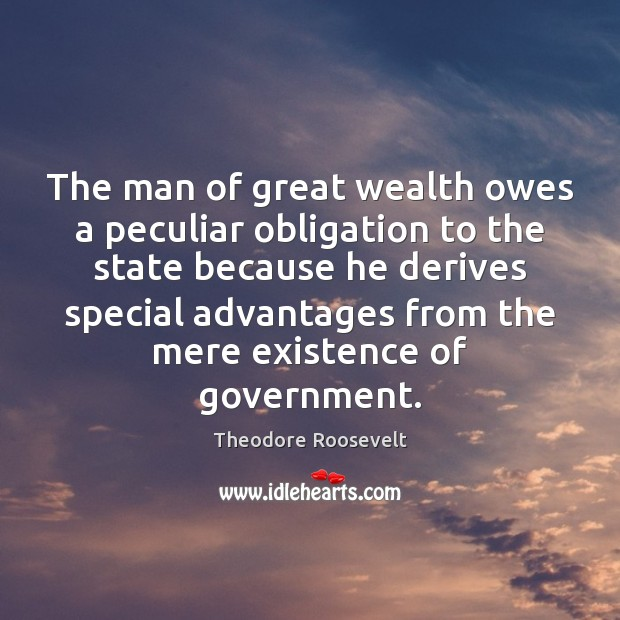 Image, The man of great wealth owes a peculiar obligation to the state