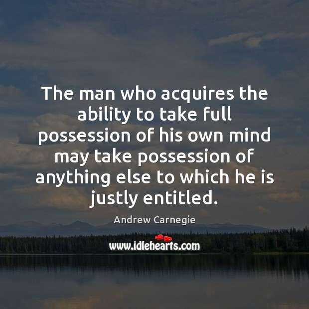 Image, The man who acquires the ability to take full possession of his