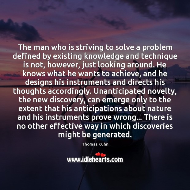 The man who is striving to solve a problem defined by existing Image