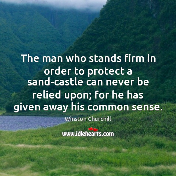 Image, The man who stands firm in order to protect a sand-castle can