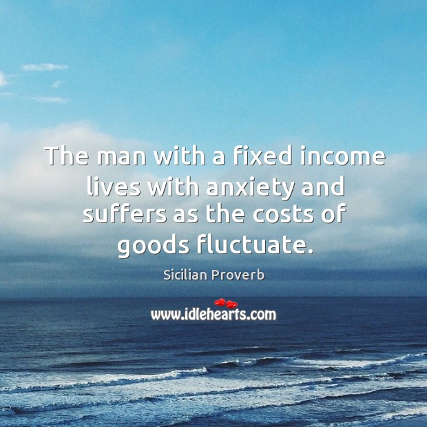 The man with a fixed income lives with anxiety and suffers Image