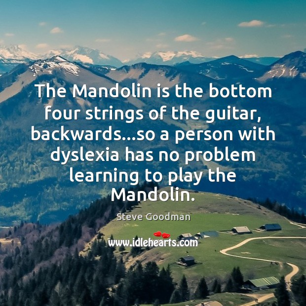 The Mandolin is the bottom four strings of the guitar, backwards…so Image